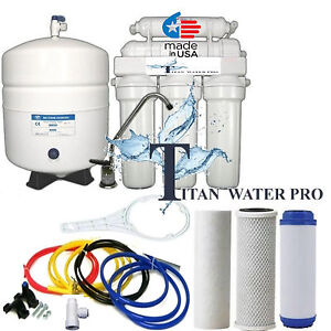 Details about Reverse Osmosis Water Filter 6 Stage - pH Alkaline - DIY  Install ready - 50 GPD