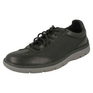 Hombre-Clarks-Cloudsteppers-Tunsil-Ridge-Zapatos-Casual-con-Cordones-Ajuste-G