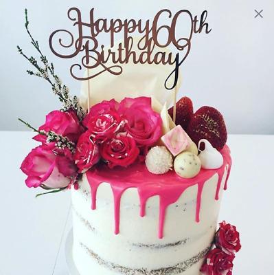 1Pcs Happy 21//30//40//50//60th Topper Cake Topper Birthday Party Cake Decor