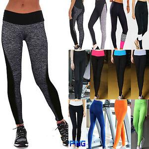 Mujer-Fitness-Medias-de-Yoga-Running-Jogging-Elastico-Piel-Deporte-Pantalones