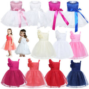 ce827394d Baby Kids Dresses Flower Girl Princess Party Wedding Christening ...