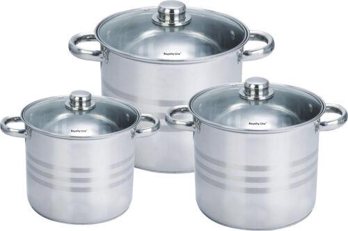 Casseroles Avec Couvercle En Verre Pot Casserole potage également induction 3tlg