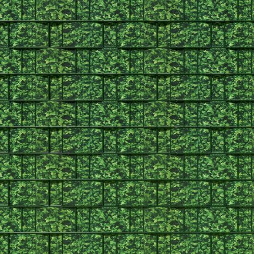 Jardin clôture de dépistage Privacy Shade 35 m Roll panel cover mesh Foil Feuilles Vertes