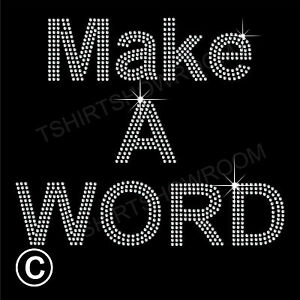 Make-a-word-upto-5-letters-Rhinestone-Diamante-Transfer-Hotfix-Iron-on-Motif