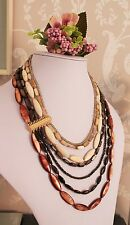 Vtg Inspired Dyed Mother of Pearl Necklace -Fabulous ! Wedding Bridal Prom Ball