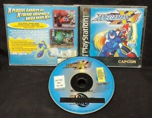 Megaman X4 - Playstation 1 2 PS1 PS2 Game Rare Working Capcom Mega Man x 4