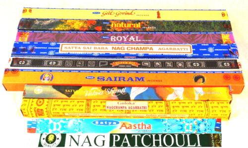 Indische Räucherstäbchen nur weltbekannte Düfte Neu 10g Wählen Sie selbst