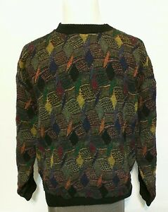 Protege-Collection-Bill-Bill-Cosby-COOGI-Stil-Mehrfarbige-AUF-SEE-MUNITIONSKISTE-Pullover-SZ-XL