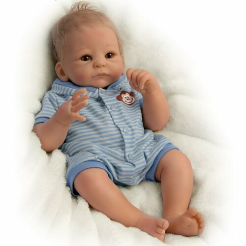Benjamin So Truly Real Weighted Newborn Baby Boy Doll 17' by Ashton Drake New