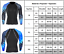 Men Compression T Shirt Under Thermal  Base Layer Sports Long Sleeve Fiitness