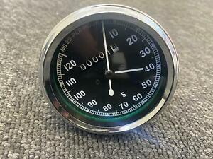 SMITH-TYPE-SPEEDOMETER-0-120-MPH-BSA-TRIUMPH-NORTON-AJS-MATCHLESS-ROYAL-ENFIELD