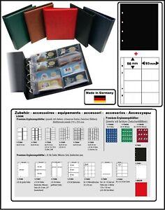 Look-Album-pour-la-Monnaie-Optus-Noir-Coincards-5x-Feuilles-Numismatiques