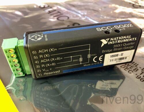 Details about  /NI National Instruments SCC-SG02 350 ohm Quarter Bridge Strain Gauge Module