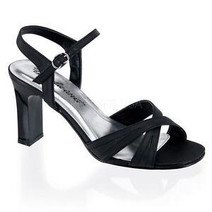 3 Black Salsa Heels Crossdresser Shoes Mens Drag Queen Sandals Size