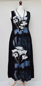 LAGENLOOK-OVERSIZED-SUMMER-HOLIDAY-HAND-MADE-LONG-DRESS-BLACK-BUST-UP-TO-54-034
