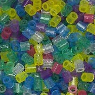 1000 Perler Glitter Colors Iron on Fuse beads NEW