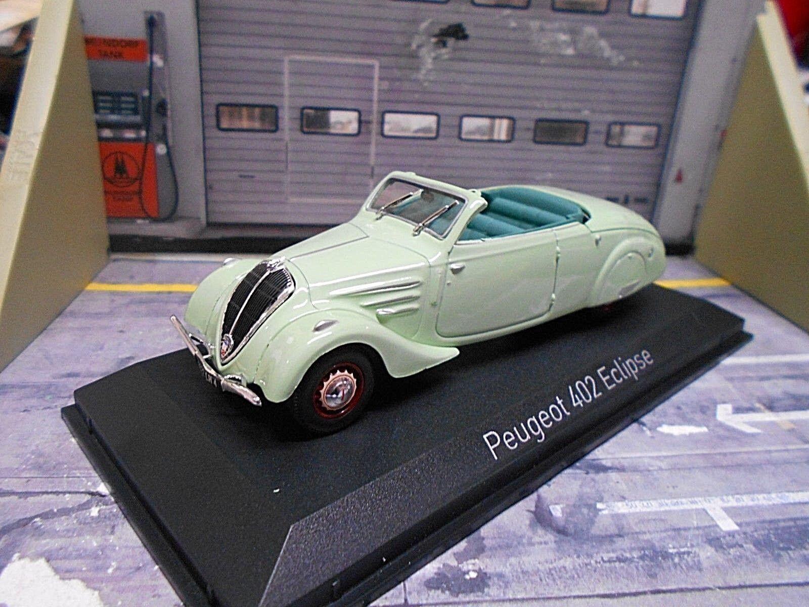 PEUGEOT 402 Eclipse Oldtimer 1937 Cabrio Grün grün 474218 Norev 1 43    Trendy