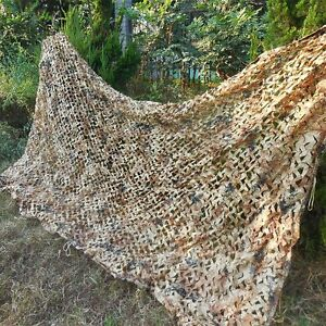 2X3M Military Camouflage Net Desert Camo Cover For Camping Hunting
