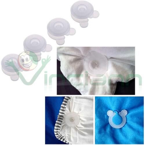 Kit set 4 clip reggi ferma fissa coperta coperte lenzuola letto mantiene ordine