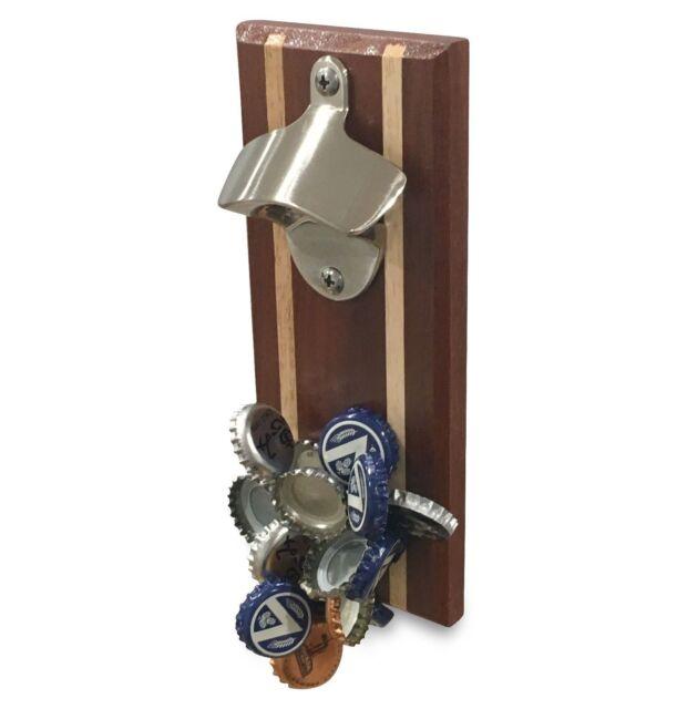 Magnetic Bottle Opener, Improved Version, Timber, Magnet holds 30 caps, BoyzToys