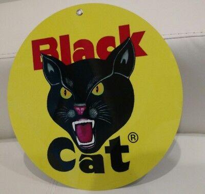 Black Cat Fireworks Retro Tin Metal Sign