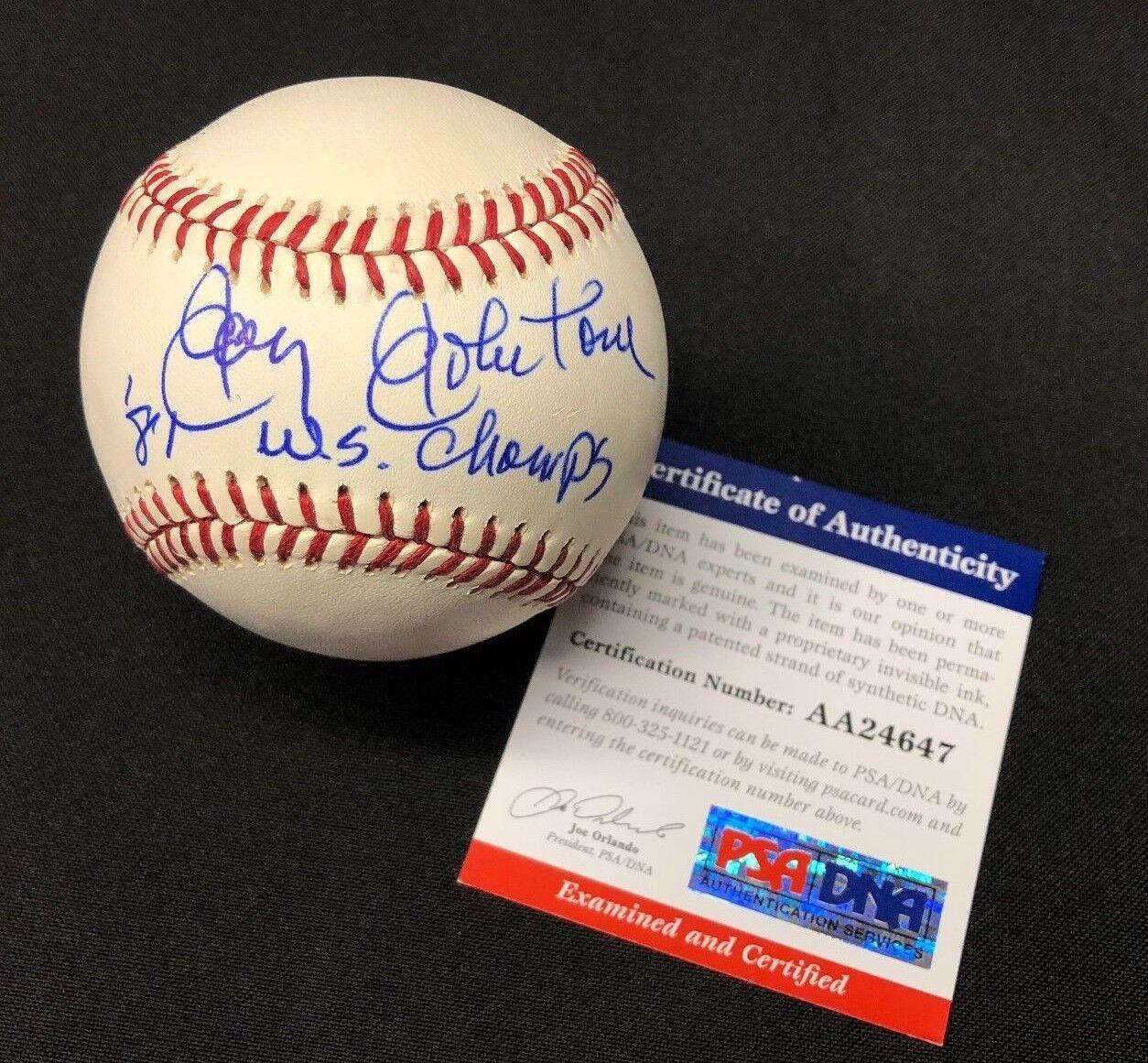 Jay Johnstone Signed National League Baseball NLB