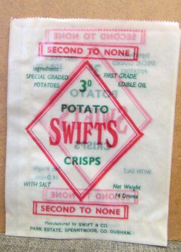 Durham Potato Crisp Advertising Packet Old Unused Empty Swifts Potato Crisps Co