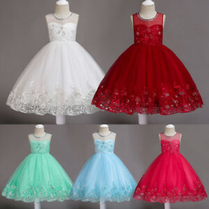 0aedab127e31 Image is loading Flower-Girl-Embroidery-Sequin-Tutu-Dress-for-Baby-