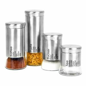 Storage-Jars-Coffee-Tin-Sugar-Bowl-Fresh-Seal-Container-Stock-Glass