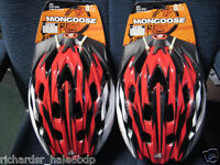 2 Mongoose Xr20 Bicycle Helmets With Vents-youths 8 Plus ( Boys Or Girls )