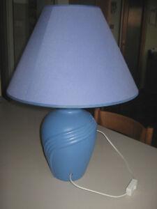 Lampada Da Tavolo Base In Coccio Blu Ebay