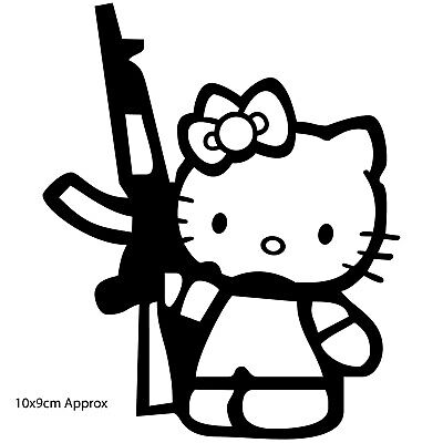 JDM 011 sticker single printed vinyl decal graphic /'Hello Kitty/'