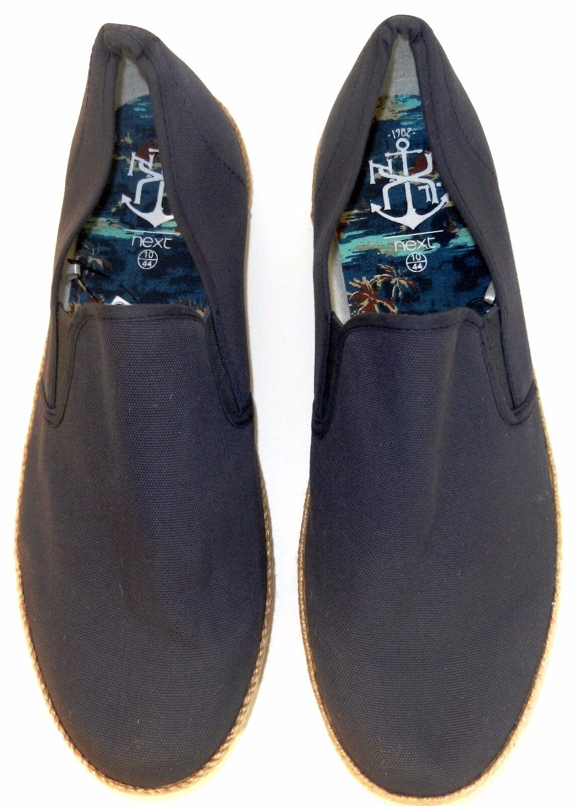 Men's Next Canvas Navy LoafersSz 12NWOB