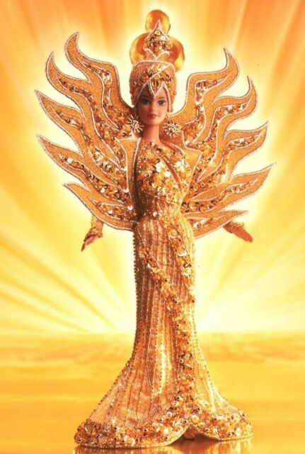 Bob Mackie Goddess of the Sun NEW Barbie Gold Collector Doll
