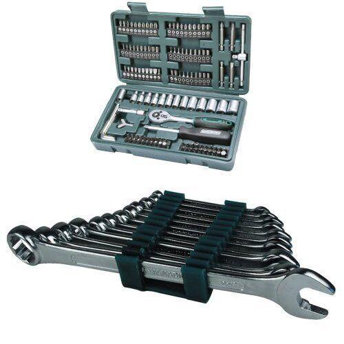 Mannesmann Werkzeugkoffer Set Schlüssel- Glas und Tipps   Spitzen