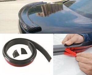 Flexible-PU-Carbon-Fiber-Car-Rear-Wing-Lip-Spoiler-Tail-Trunk-Roof-Trim-Original