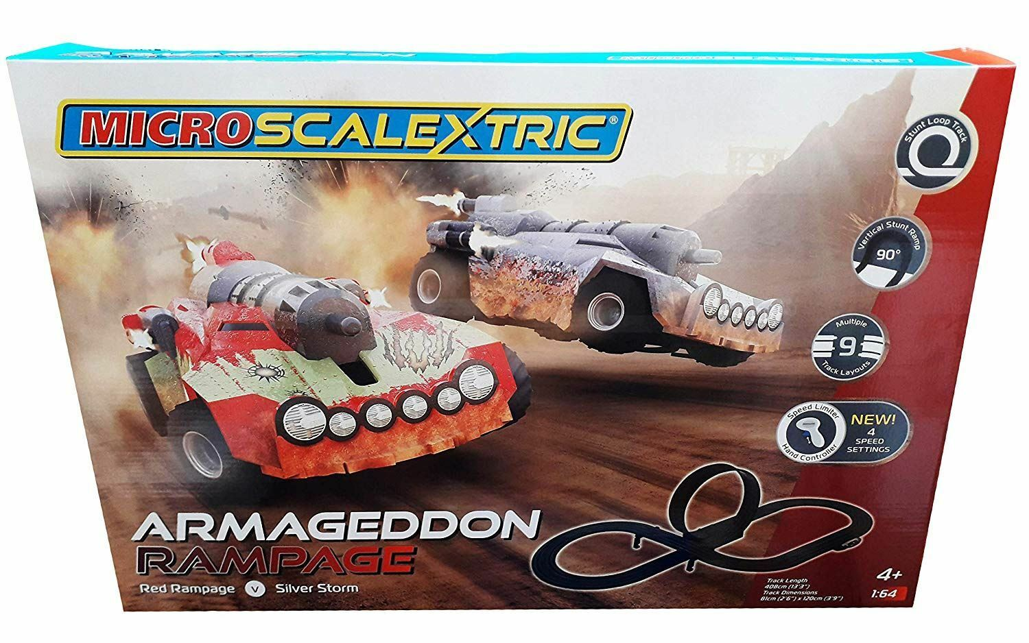 Scalextric COS259067 Micro Armageddon Rampage, RED Age 4-Dad  Family Present