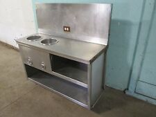 Heavy Duty Commercial Ss 48w 2 Wells Hot Soup Serving Station 120v 1ph