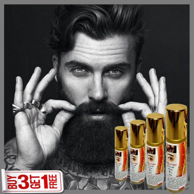 GINSENG BEARD HAIR GROWTH SERUM Sideburns Eyebrow Mustache FULLER LONGER THICKER