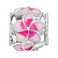 Everbling Love Goes Round Hearts Murano Glass Bead Charm Bracelet Pandora Silver
