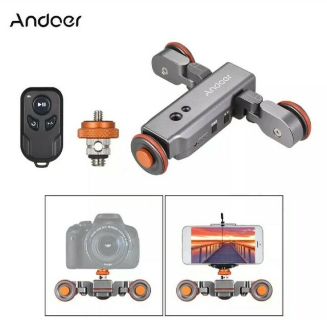 FILMGEAR dslr Auto Dolly Video Car Motorized Track Slider for Canon Nikon Sony
