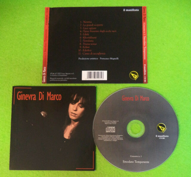 CD GINEVRA DI MARCO Concerto n.1 Smodato Temperante 2002 CD081  no lp mc (CI52)