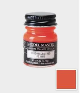 Testors Model Master Enamel Paint 1 2 Oz Fluorescent Red Fs28915 1775