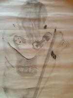 Axl Rose, Guns'n Roses, Bleistiftzeichnung, für Sammler, 90er Jahre