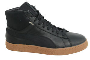 1947f72a3a6a Details about Puma Basket Mid GTX Gore-Tex Lace Up Black Leather Mens  Trainers 361900 02 D80