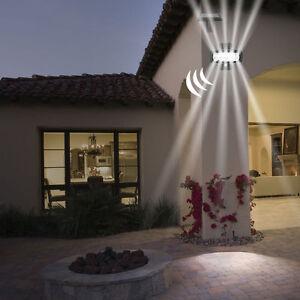5x Solar Lampe Led Strahler Bewegungsmelder Garage Wand Leuchte