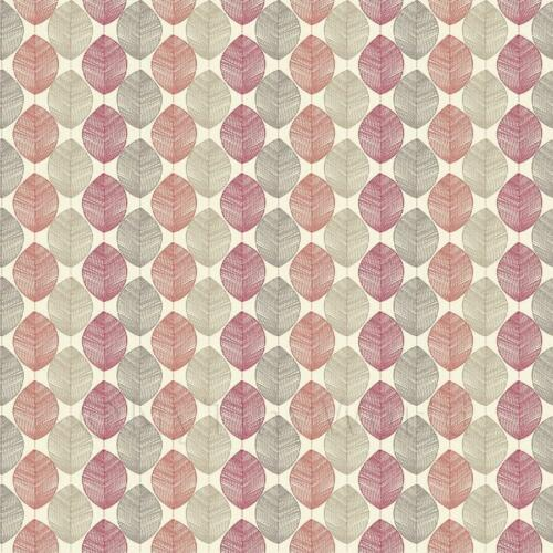 Dolls House Miniature Red And Orange Leaf Wallpaper