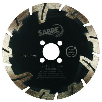 Sabre drop segment diamond blade with undercut protection for hard granite!