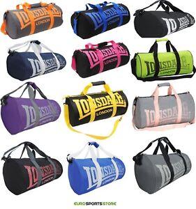 NEW-Lonsdale-Barrel-Gym-Sports-Bag-Mens-Womens-Boys-Girls-Shoulder-Duffle-Swim