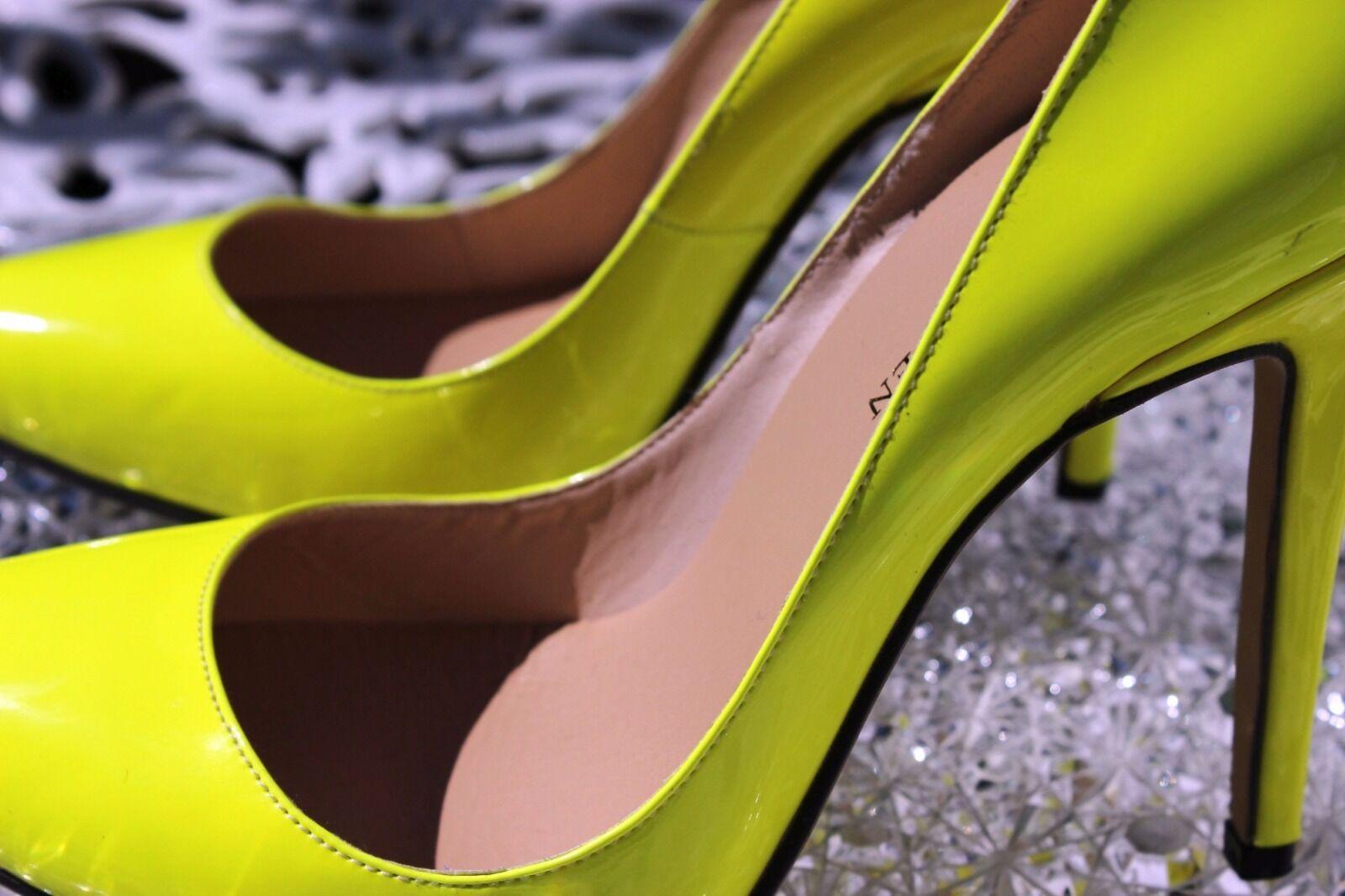 NEW Loslandifen Damenschuhe Patent High Heels 5 Pointed Toe Yellow 5 Heels UK EU 38- dd32ba